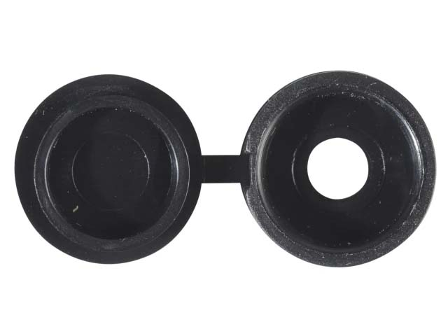 Forgefix 6-8 Hinged Screw Cups & Covers Black (Bag 100) - 100HCC2