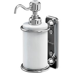 Burlington A19CHR Soap Dispenser 80mm x 141mm x 208mm - White/Chrome