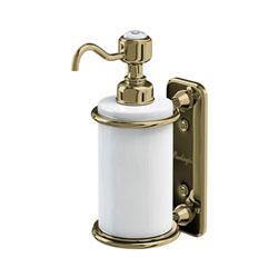 Burlington A19GOLD Soap Dispenser 141mm x 80mm x 208mm - White/Gold