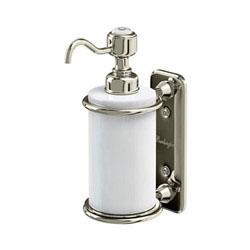 Burlington A19NKL Soap Dispenser 141mm x 80mm x 208mm - White/Nickel