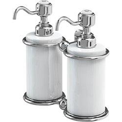 Burlington A20CHR Double Soap Dispenser - White/Chrome