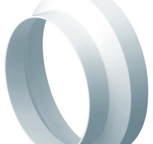 DOMUS EASIPIPE 100 IN-LINE ADAPTOR ROUND-ROUND 100MM - 110MM
