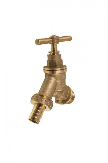 "3/4"" BIBTAP COMPLETE WITH DOUBLE CHECK VALVE - DZR BRASS"