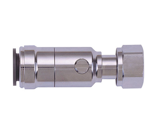 """SPEEDFIT BRASS CHROME PLATED SERVICE VALVE WITH TAP CONNECTOR 15MM X 1/2"""" - 15PTSV"""