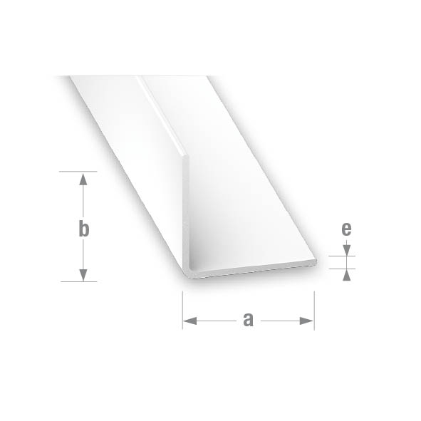PVC EQUAL CORNER WHITE 20x20mm 1mtr