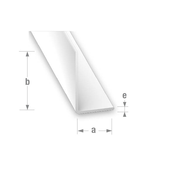 PVC UNEQUAL CORNER WHITE 10x20mm 1mtr