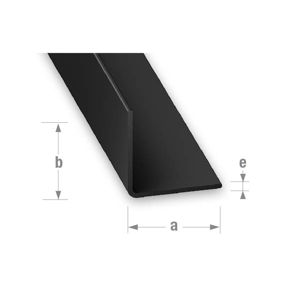 PVC EQUAL CORNER BLACK 15x15mm 1mtr