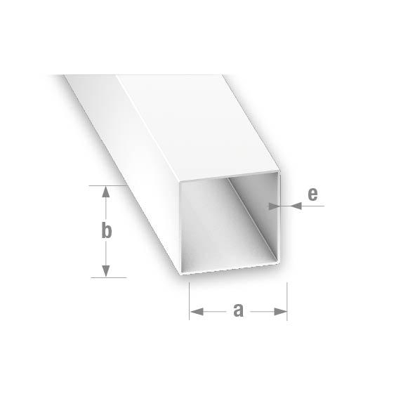 PVC SQUARE TUBE WHITE 15x15x1mm 1mtr
