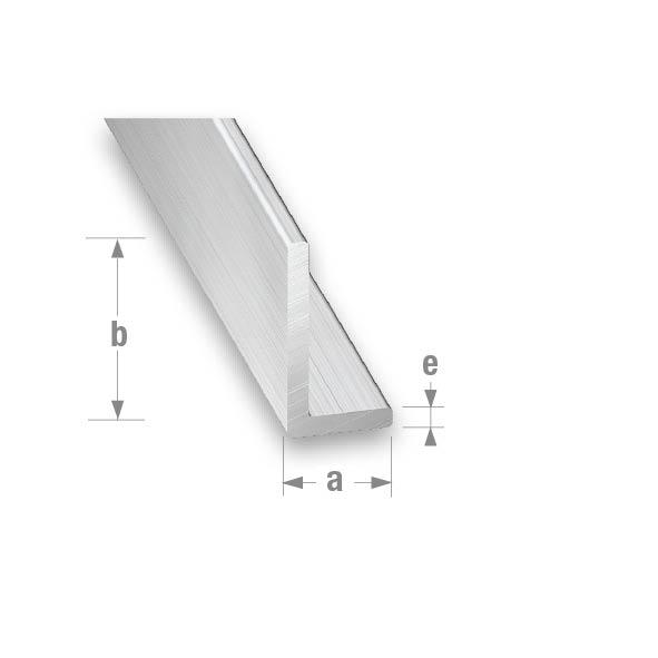 RAW ALUMINIUM UNEQUAL CORNER 10x25x1.5mm 1 mtr