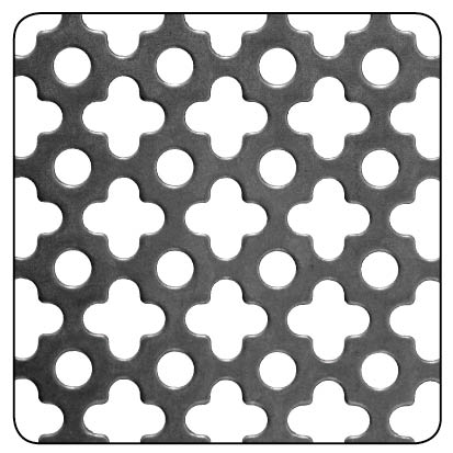 RAW STEEL CLOVER PERFORATED 500x250x1MM