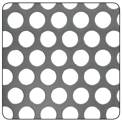 ROUND PERFORATED 8mm RAW STEEL 1000x500x1mm