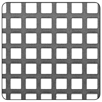 SQUARE PERFORATED 5.5x5.5mm RAW STEEL 500x500x1mm