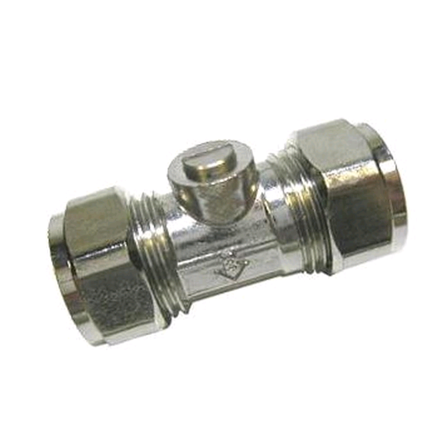 15MM LIGHT PATTERN ISOLATION VALVE - CHROME PLATED