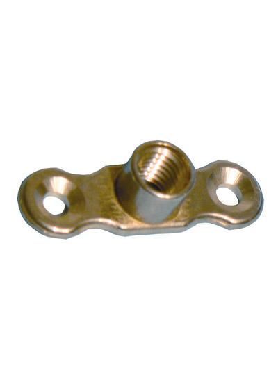 A16 Cast Brass Backplate (for Single Ring Clips/Munsen Rings) - M10 Female
