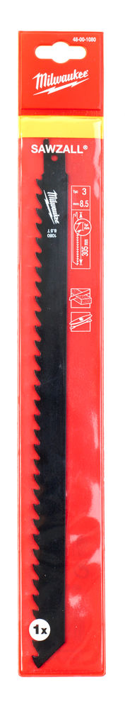 MILWAUKEE SAWZALL BLADE - 305MM BRICK & BLOCK - 1PC - 48001080