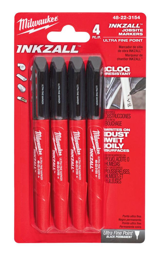 Milwaukee Inkzall Jobsite Black Fine Liner Ultra Fine Point - 48223154