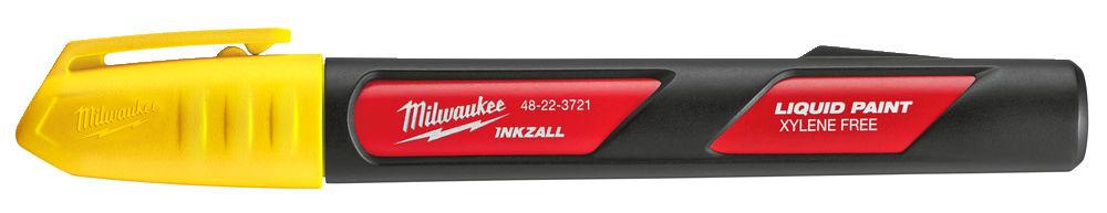 MILWAUKEE INKZALL LIQUID PAINT MARKER PEN YELLOW - 48223721