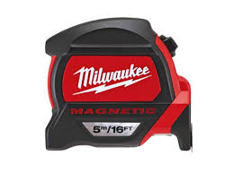 MILWAUKEE PREMIUM MAGNETIC TAPE MEASURE METRIC/IMPERIAL 5M/16FT - 48227216
