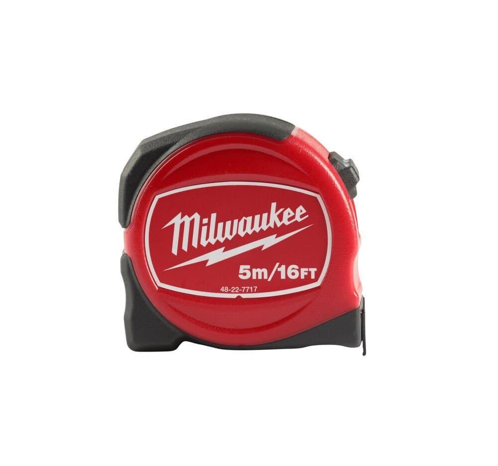 MILWAUKEE SLIMLINE TAPE MEASURE METRIC/IMPERIAL 5M/16FT - 48227717