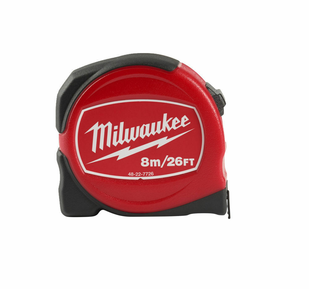 MILWAUKEE SLIMLINE TAPE MEASURE METRIC/IMPERIAL 8M/26FT - 48227726