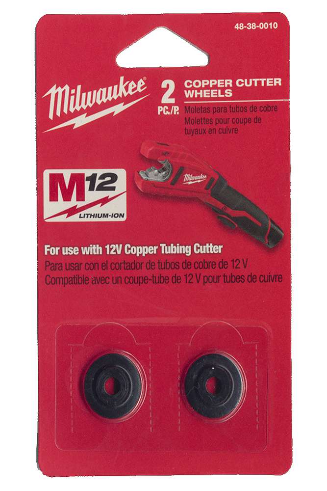 Milwaukee Pipe Cutter Wheels for Copper Pipe - Pack of 2 - 48380010
