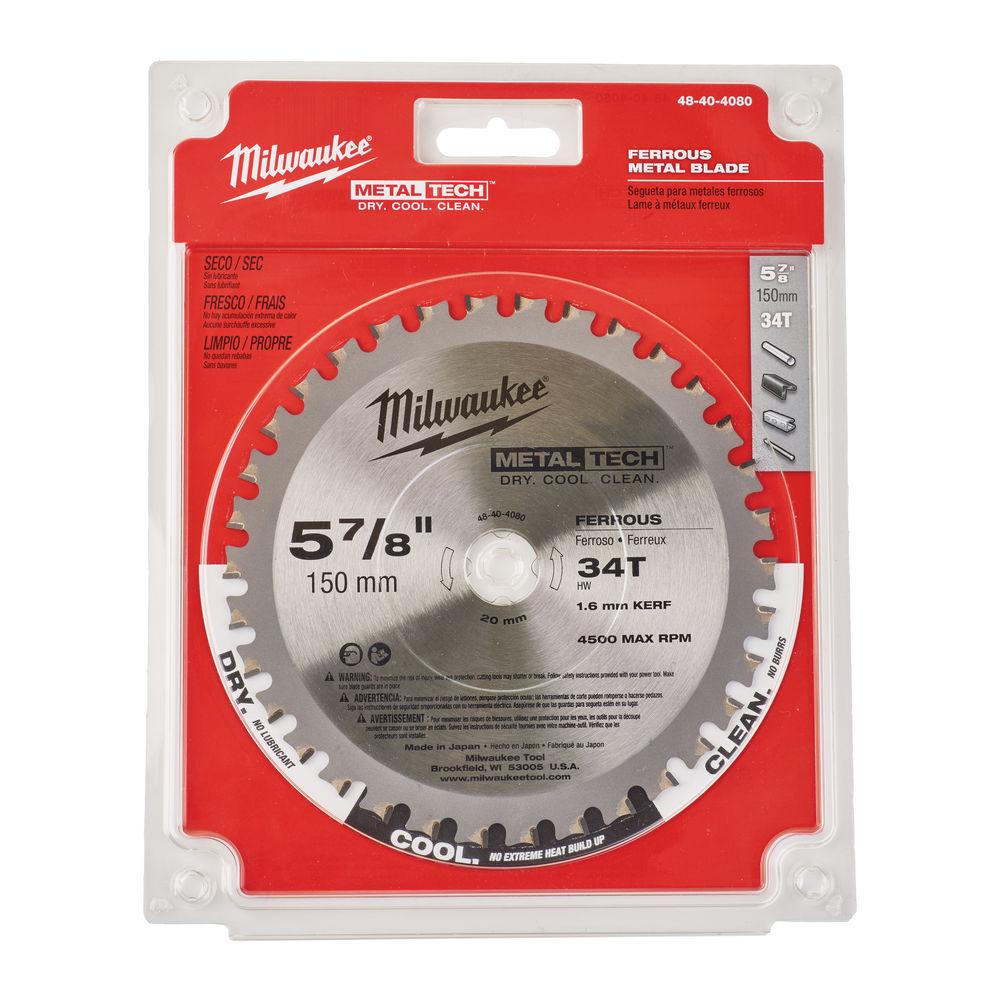 MILWAUKEE CIRCULAR SAW BLADE 150MM X 24 X 34TH - METAL BLADE - 48404080