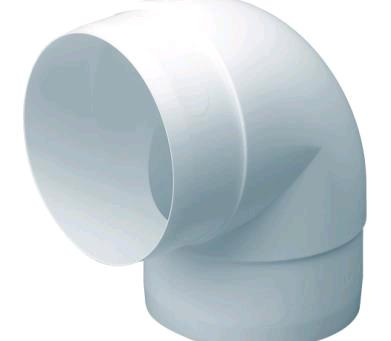 DOMUS EASIPIPE 100 ROUND RIGID DUCTING 100MM 90 DEGREE BEND