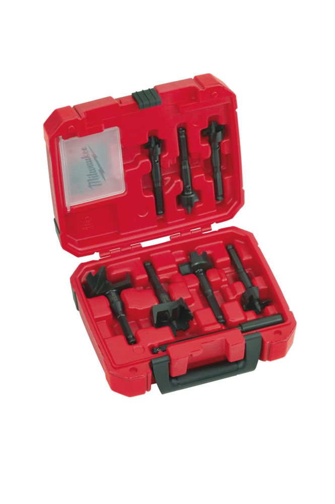Milwaukee 7 Piece Self-Feed Auger Contractors Bits - 25mm to 65mm - 49220130