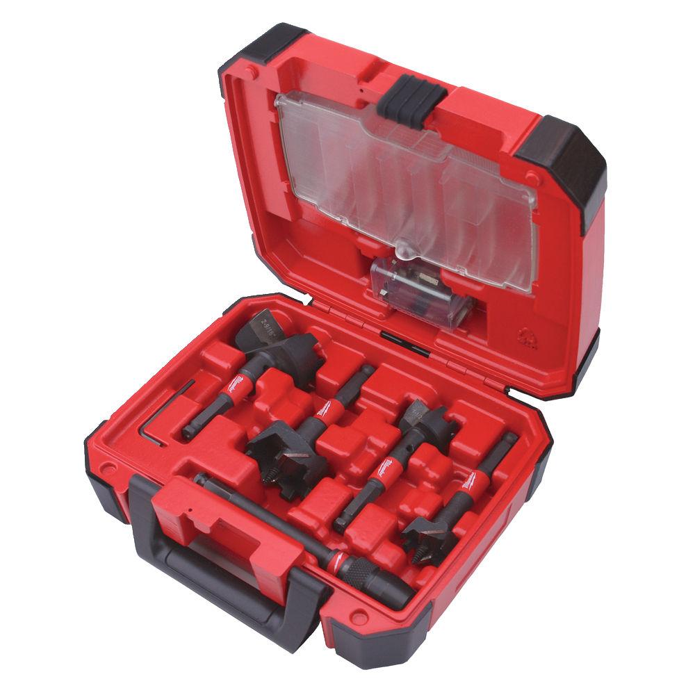 Milwaukee 5 Piece Switch-Blade Self-Feed Holesaw Set - 35mm > 65mm - 49225100
