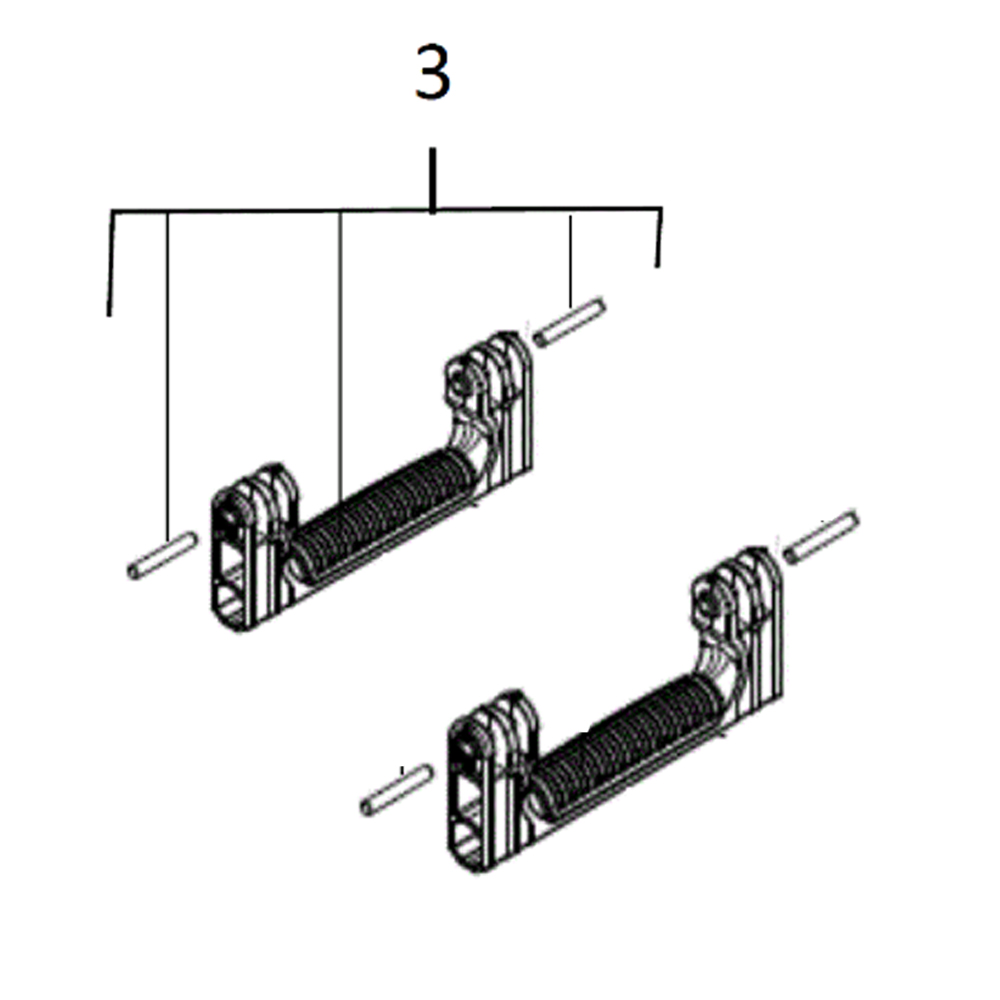 Milwaukee Packout - Spare Part - Pair of Side Handles - 4931466532
