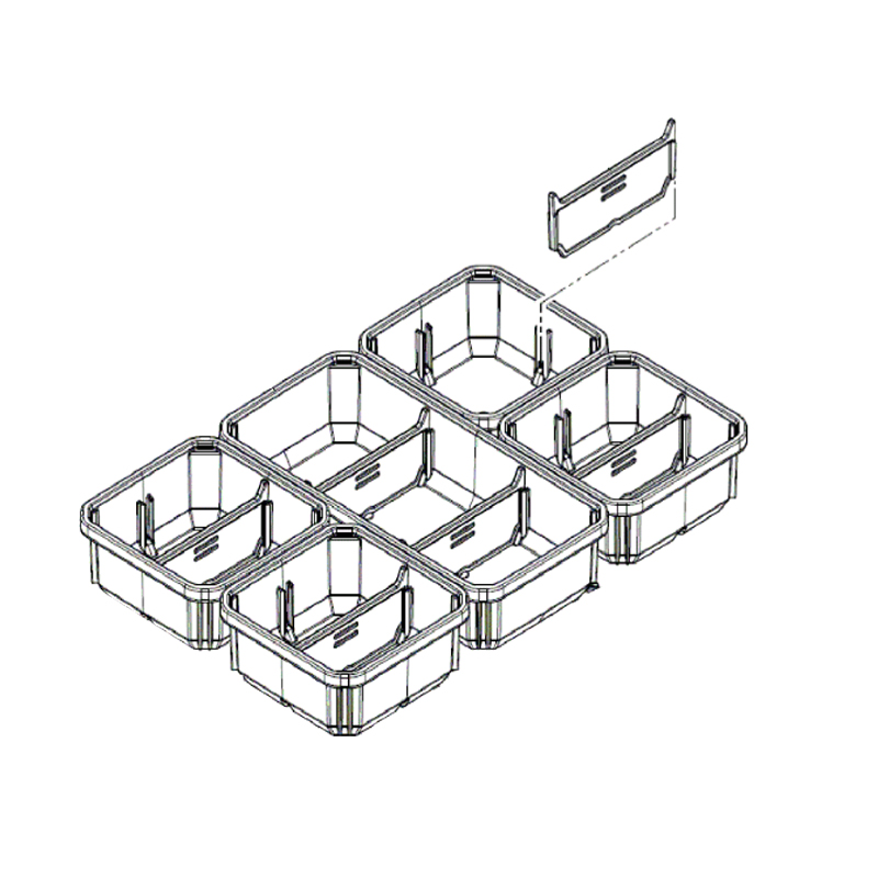 MILWAUKEE PACKOUT - SPARE PART - COMPACT ORGANISER INSERT BOXES - 4931472238
