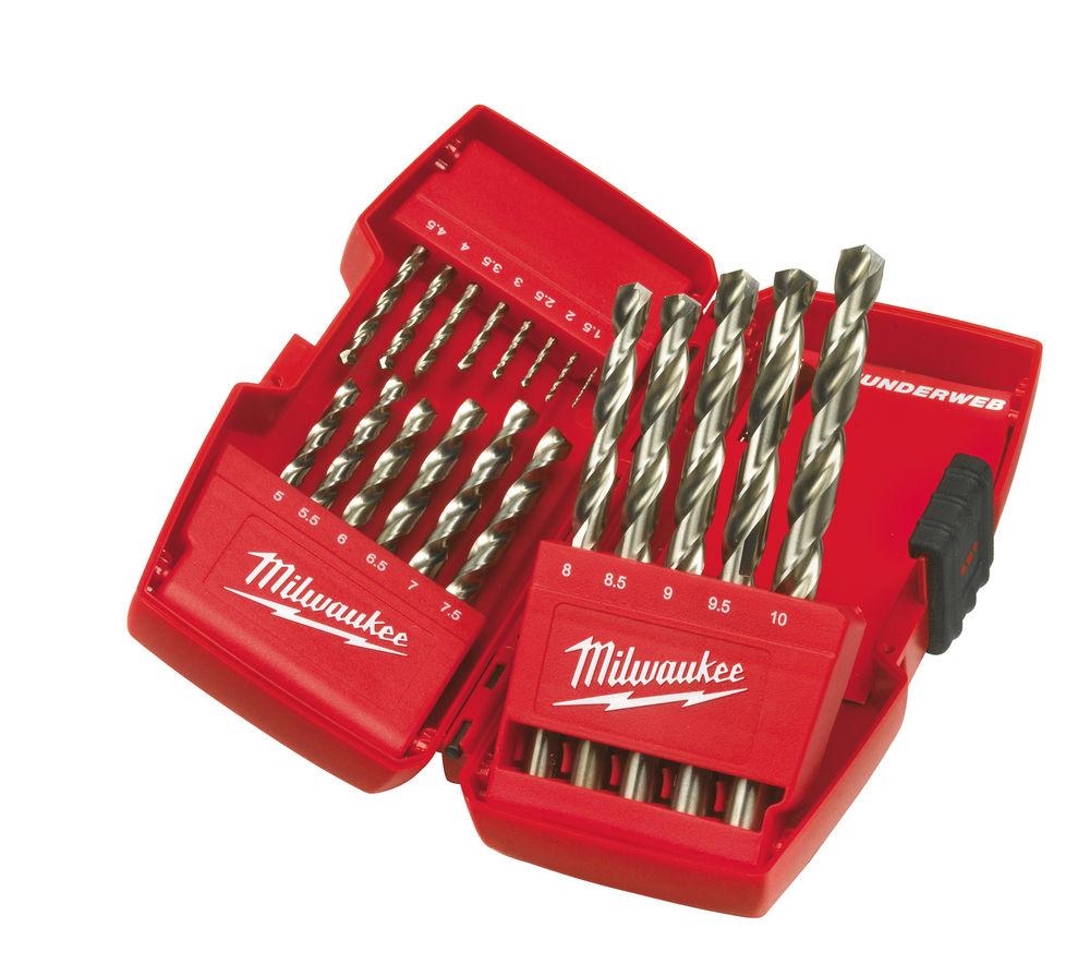 MILWAUKEE THUNDERWEB HSS 19PC DRILL BIT SET - 4932352374