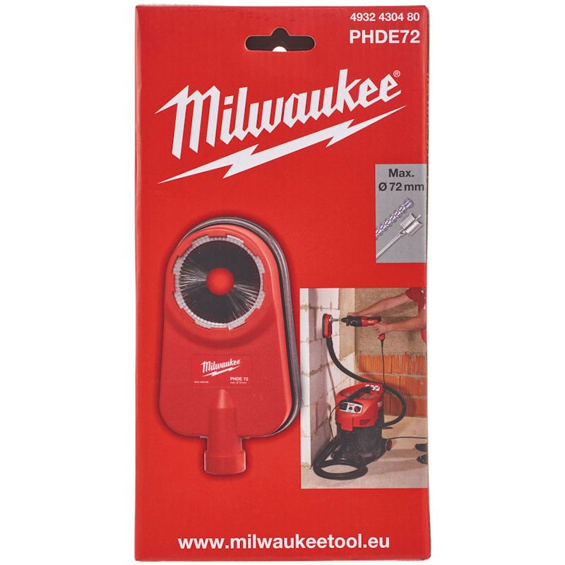Milwaukee PHDE72 Dust Extractor for SDS Hammers & Core Drills - 4932430480