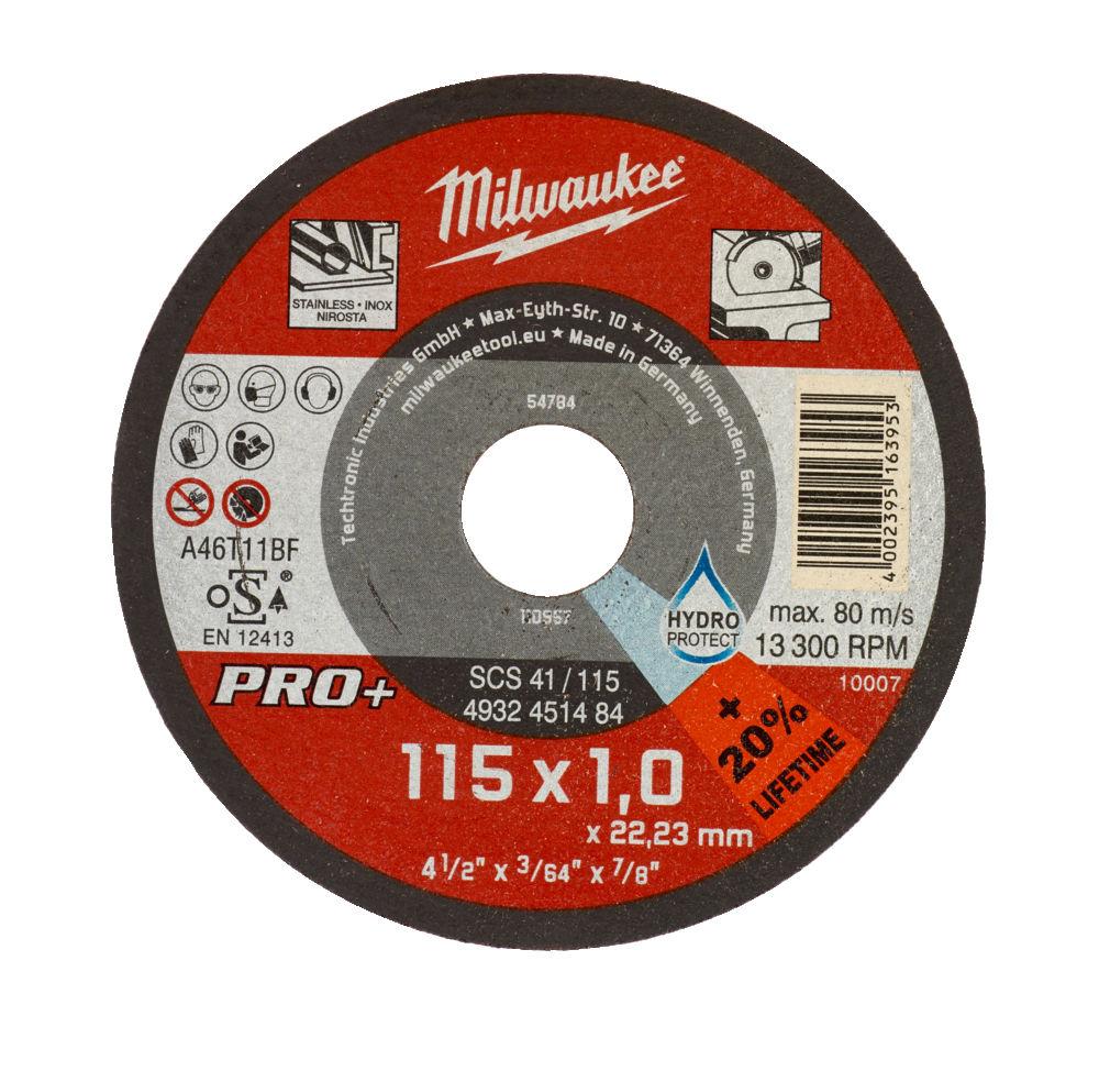 Milwaukee Cut of Wheel Metal Cutting 115mm x 1.0mm Thin Disc - 4932451484