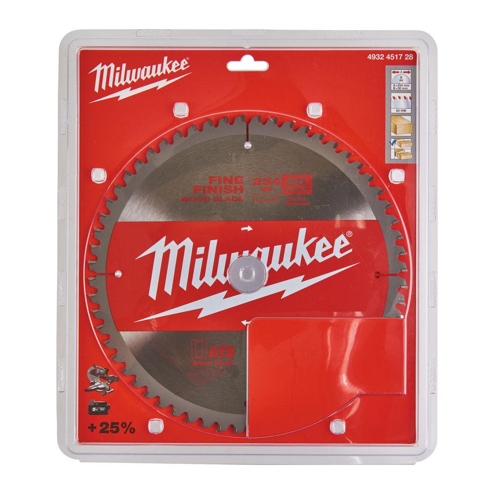 MILWAUKEE CIRCULAR SAW BLADE 254MM X 30 X 60TH - 4932451728