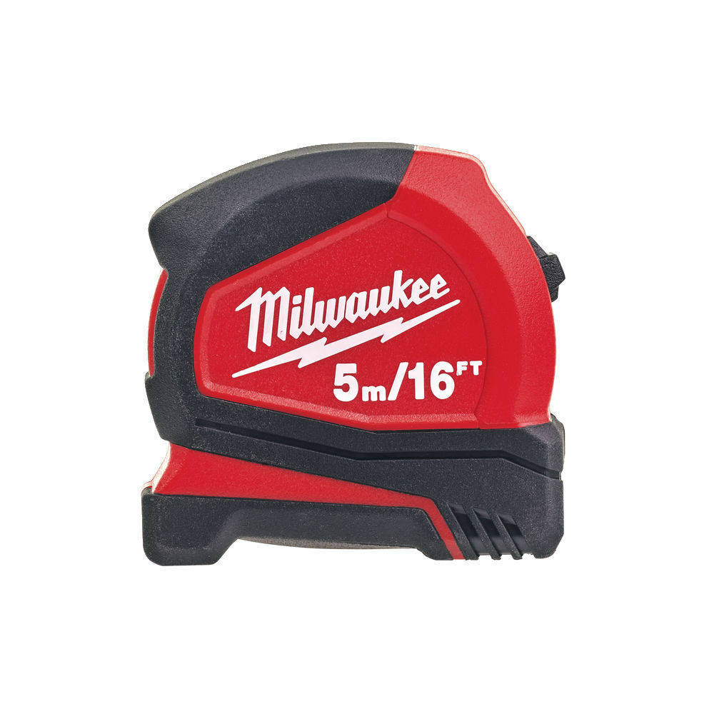MILWAUKEE PRO COMPACT TAPE MEASURE METRIC/IMPERIAL 5M/16FT - 4932459595
