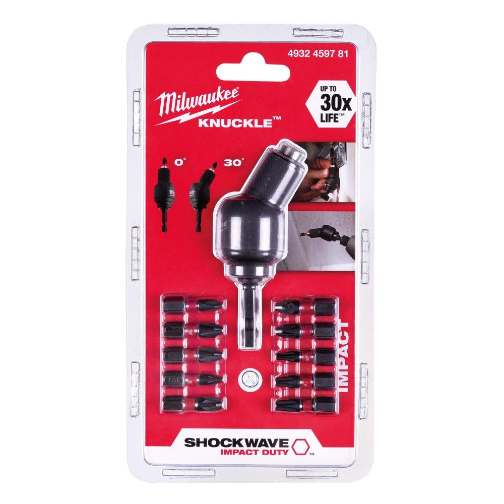 Milwaukee Shockwave Knuckle Offset Attachment (11 Piece) - 4932459781
