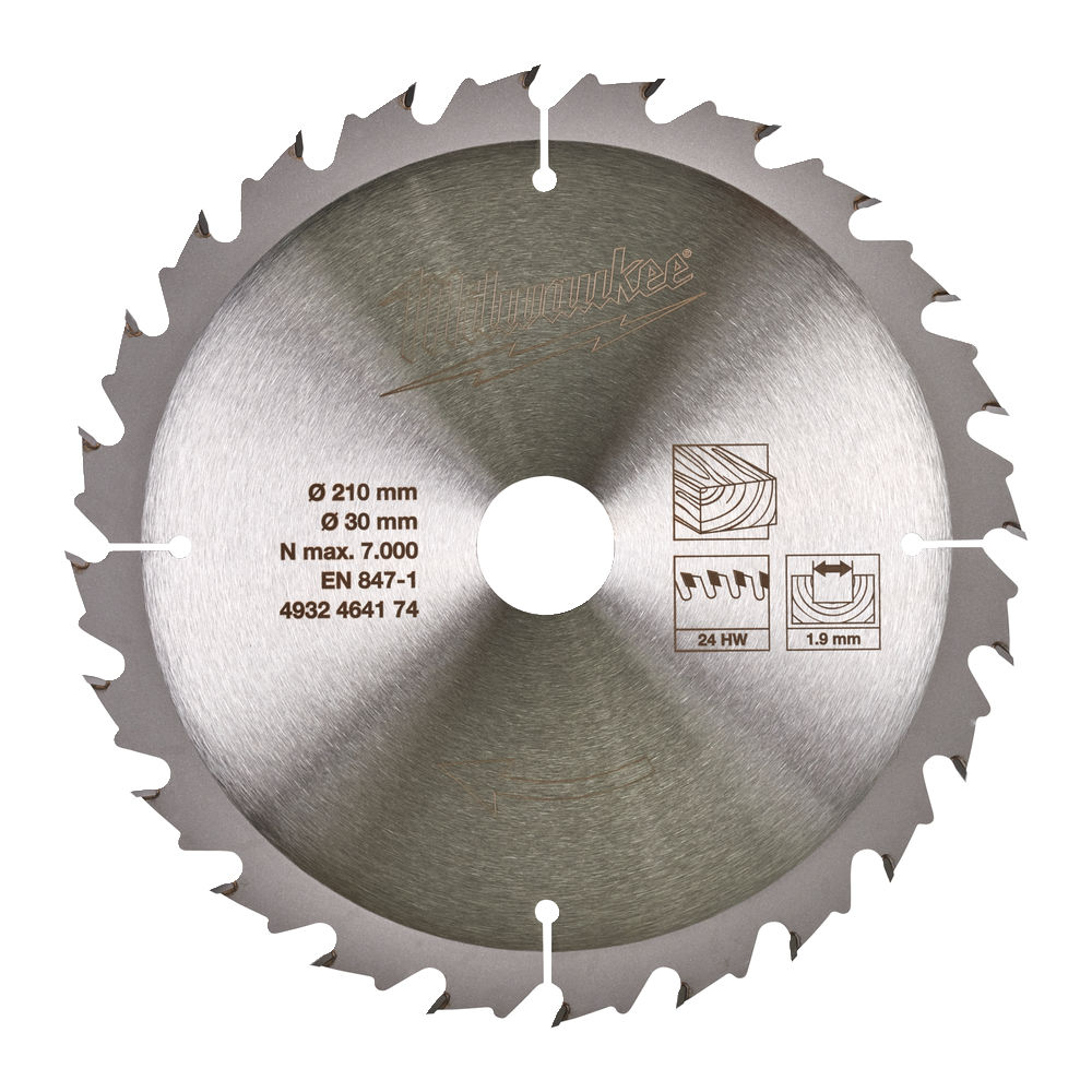 Milwaukee Circular Saw Blade for Table Saws 210mm x 30mm 24T