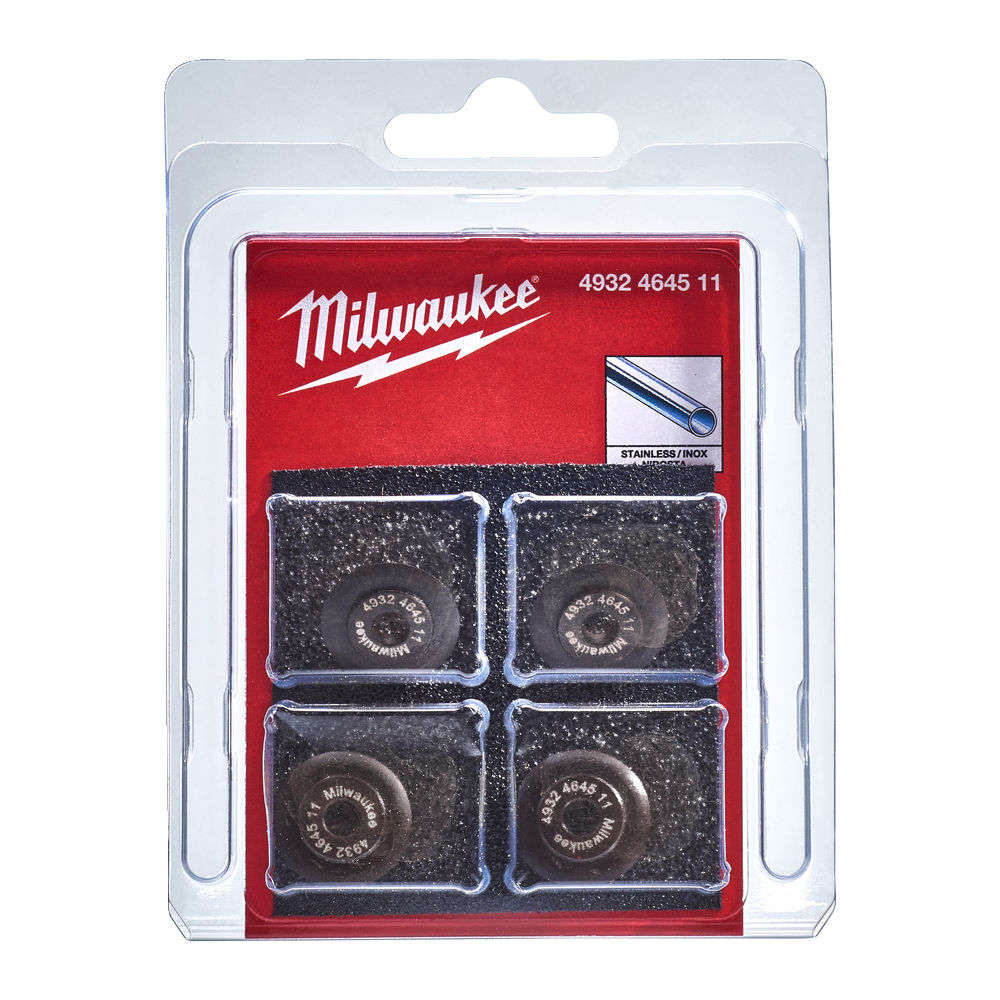 MILWAUKEE PIPE CUTTER WHEELS FOR STAINLESS PIPE - 4PCS - C12PC - 4932464511