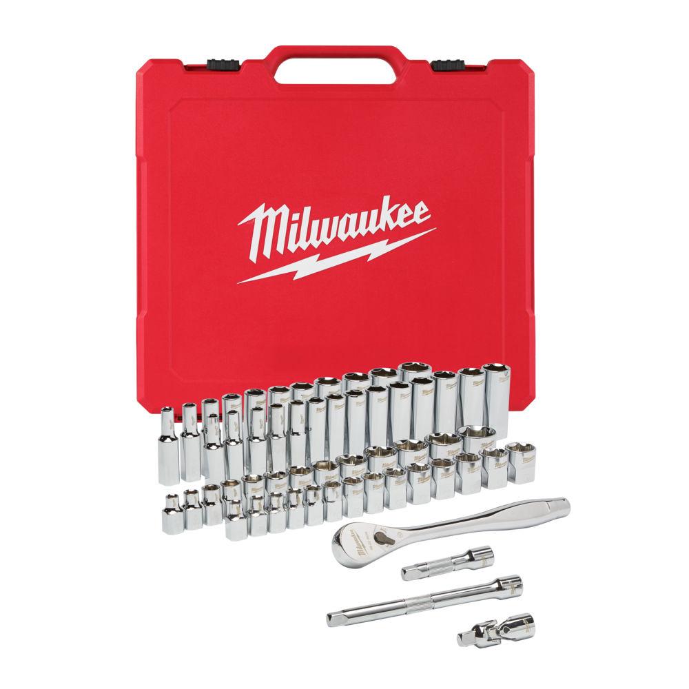 Milwaukee 3/8in Drive 56 Piece Ratchet & Socket Set Metric