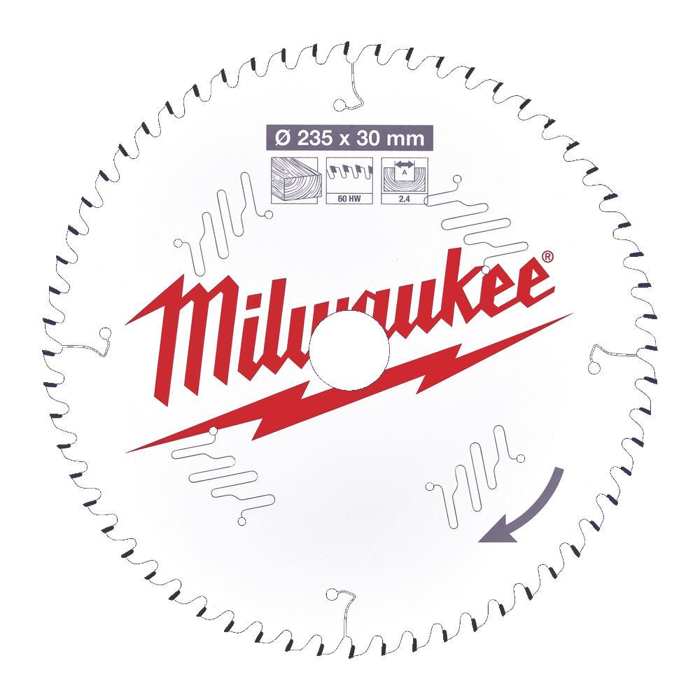 MILWAUKEE CIRCULAR SAW BLADE 235MM X 30 X 60TH - 4932471308