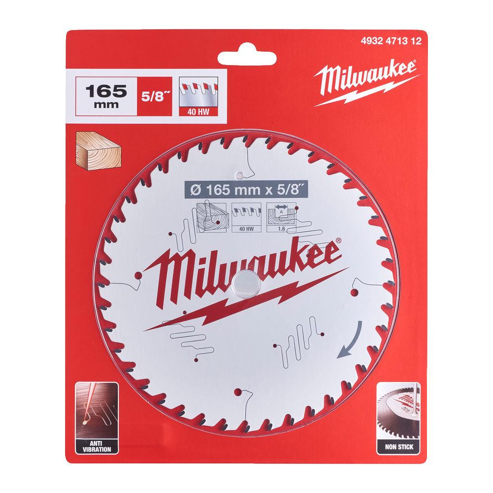 MILWAUKEE CIRCULAR SAW BLADE 165MM X 15.87 X 40TH - 4932471312