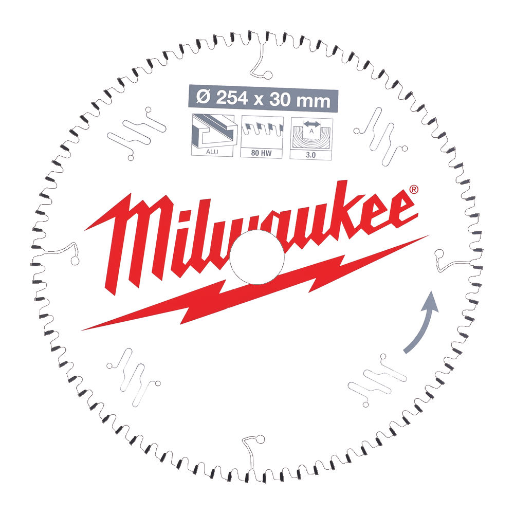Milwaukee Circular Saw Blade for Mitre Saws 254mm x 30mm x 80TH - 4932471318