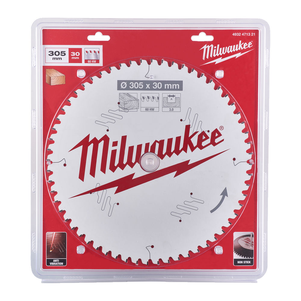 Milwaukee Circular Saw Blade for Mitre Saws 305mm x 30mm x 60TH - 4932471321