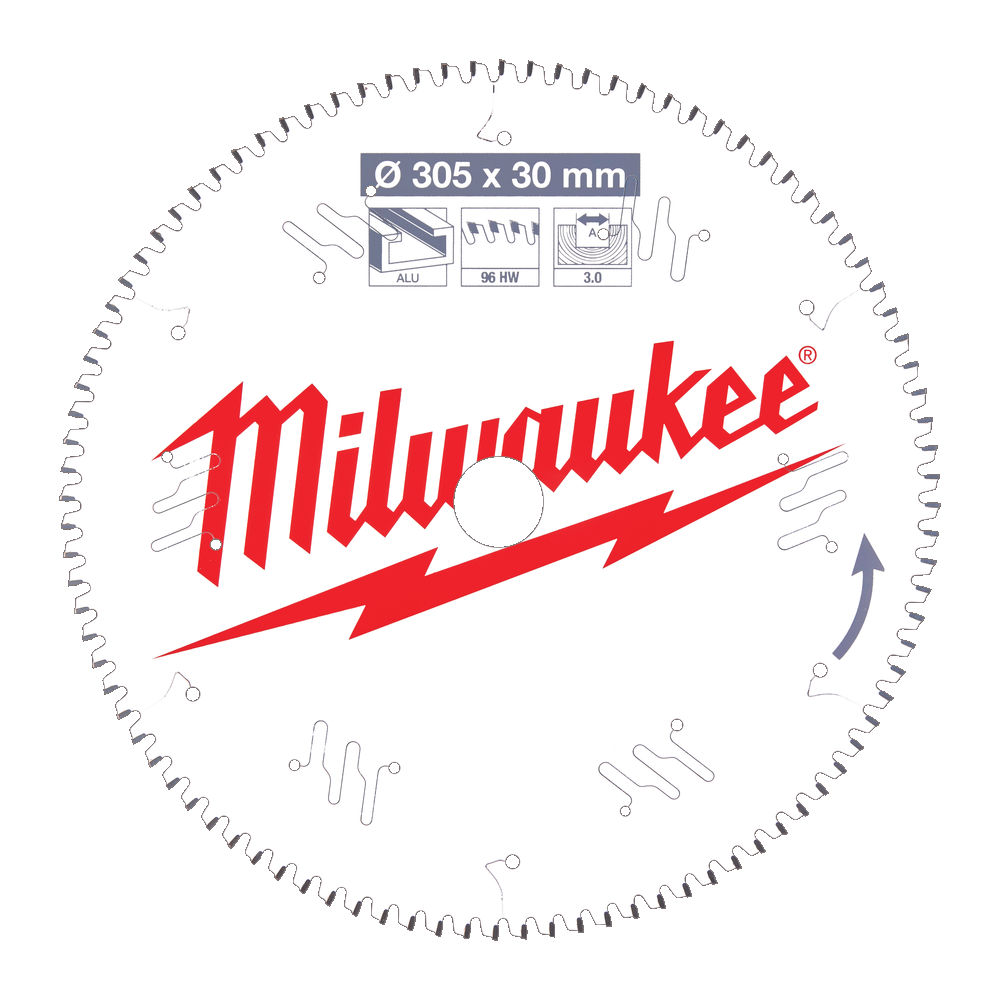 MILWAUKEE CIRCULAR SAW BLADE FOR MITRE SAWS 305MM X 30 X 60TH - 4932471323