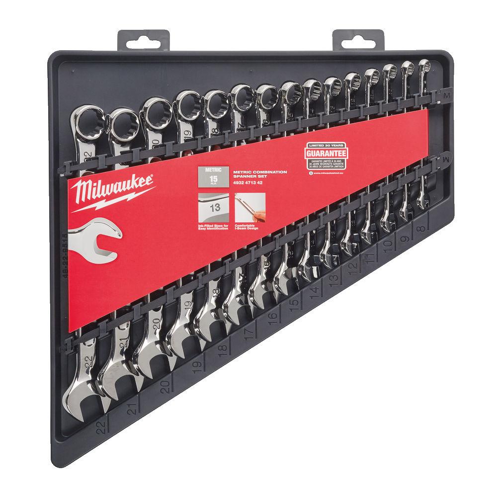 Milwaukee 15Pc Metric Spanner Set - 4932471342