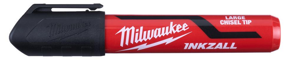 MILWAUKEE INKZALL BLACK LARGE CHISEL TIP MARKER PENS - 48223255