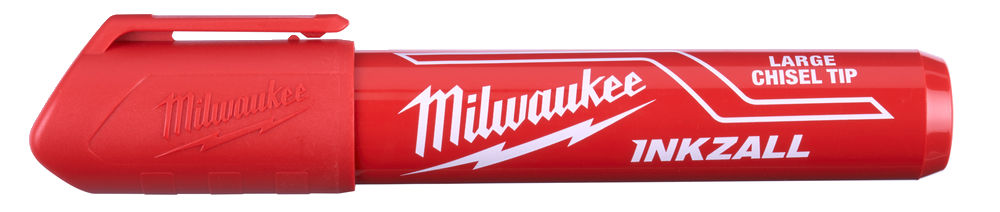 MILWAUKEE INKZALL RED LARGE CHISEL TIP MARKER PENS - 48223256