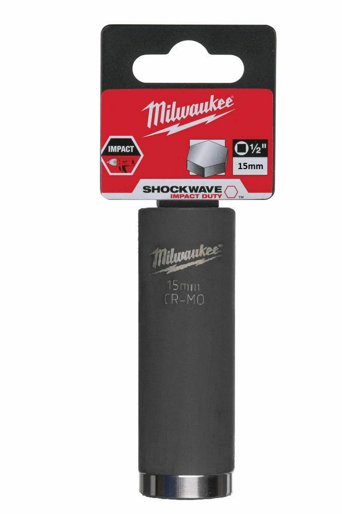 Milwaukee 15mm 1/2in Shockwave Impact Duty - Impact Socket Deep 4932471737