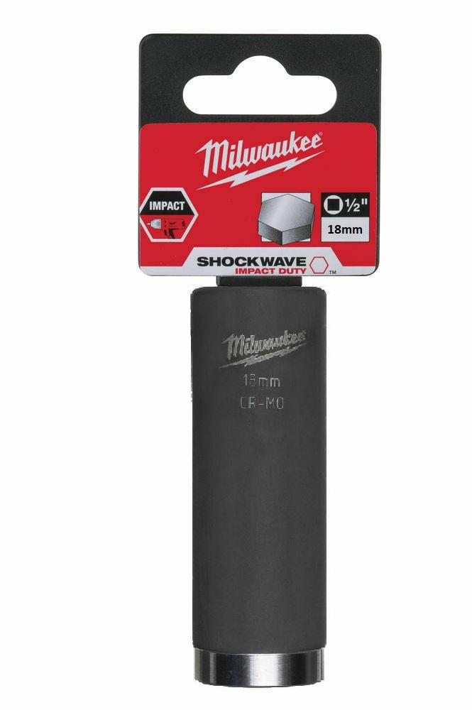 Milwaukee 18mm 1/2in Shockwave Impact Duty - Impact Socket Deep 4932471738